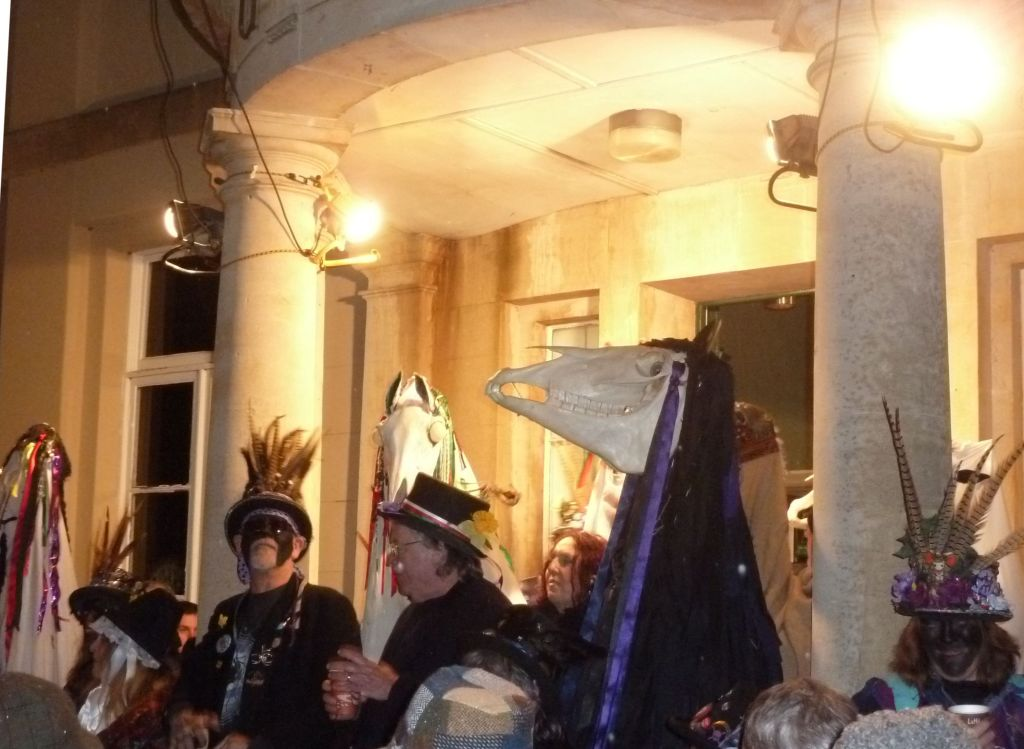 Mari Lwyd's gaping skull (photograph by Andy Dingley)