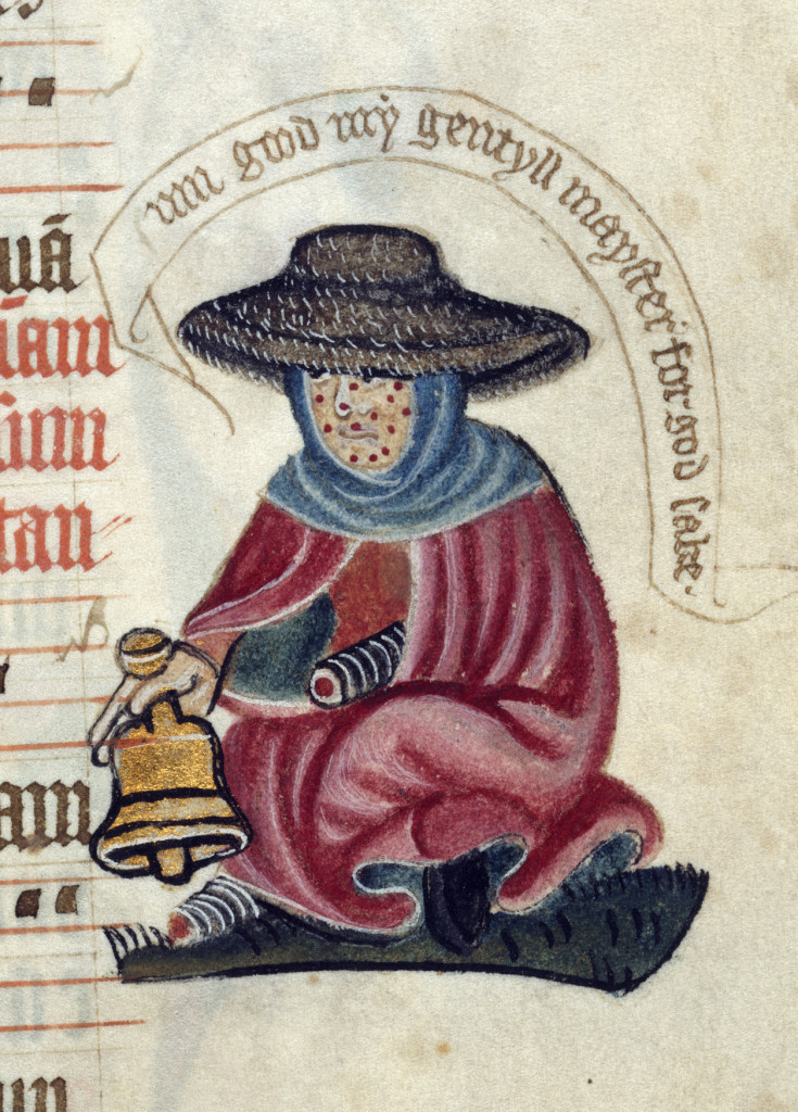 Ring it proud! (Leper with a bell circa 1400.)